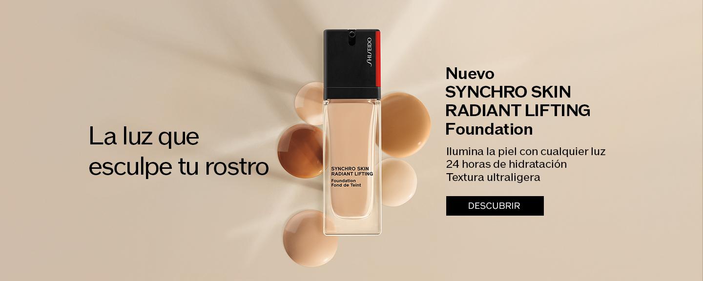 La luz que esculpe tu rostro Nuevo SYNCHRO SKINRADIANT LIFTING Foundation Ilumina la piel con cualquier luz 24 horas de hidratación Textura ultraligera